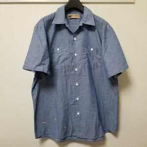 BIG MAC ビックマック コットン 半袖 シャンブレーシャツ サイズXL位 03G1614