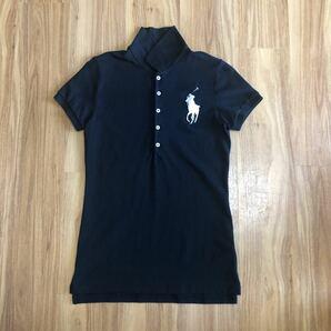 ラルフローレン ポロシャツ レディース M 165/92A ブラック ビッグポニー RALPH LAUREN