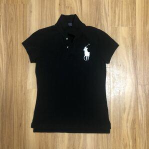 ラルフローレン ポロシャツ レディース S 160/84A ブラック ビッグポニー RALPH LAUREN