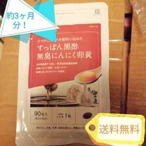 送料無料【3ヶ月分】サプリ サプリメント すっぽん黒酢+にんにく卵黄 約3ヵ月分 アミノ酸 無臭にんにく 送料無料 ダイエット