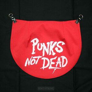 ロンドンバンクファッションのマストアイテム☆バムフラップBumflap☆ 【PUNKS NOT DEAD(red)】