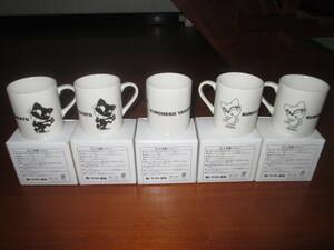 クロネコヤマト 陶器製 マグカップ 同じデザイン5個 箱付き