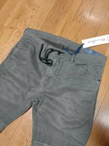 新品未使用タグ付 diesel jogg jeans ディーゼル ジョグジーンズ bakari-ne 0684T w34 スウェットジーンズ ビンテージ加工履き心地抜群