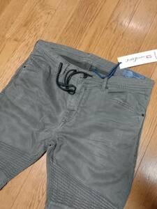 新品未使用タグ付 diesel jogg jeans ディーゼル ジョグジーンズ bakari-ne 0684T w32 スウェットジーンズ ビンテージ加工履き心地抜群2