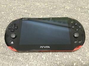 (中古)PSVita Wi-Fiモデル PCH-2000 レッド/ブラック PCHJ-10024 本体のみ 動作良好 動作確認済み 状態A 美品 (送料無料)