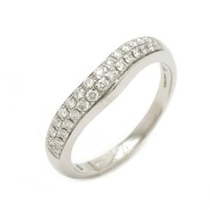 BVLGARI ブルガリ コロナ パヴェダイヤ ダイヤモンド リング 指輪 Pt950 プラチナ #6 6号 (中古)