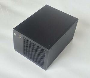 アルミ削り出しMini ITXケース2317A ATX電源 KRPW-BR650W/85+ A520M-ITX/ac ROG STRIX B550-I GAMING対応 PCオーディオ自作DIYに