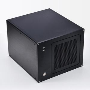 アルミ削り出しMicroATXケース2822A ATX KRPW-BR650W/85+ MAG B550M MORTAR WIFI B460M Pro4 B450M Steel Legend対応PCオーディオDIY自作に