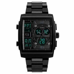 50m防水 デジタル腕時計 デジアナ スポーツ ストップウォッチ タイマー
