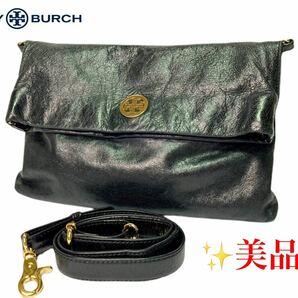 TORY BURCH ショルダーバッグ クラッチバッグ レザー ゴールド金具