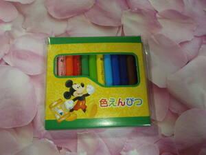 非売品【TDR 東京ディズニーリゾート バケーションパッケージ】色えんぴつ ミッキーマウス 東京ディズニーランド 色鉛筆 12色