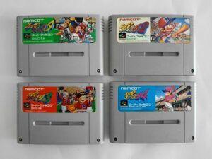 送料無料 即決 使用感あり 任天堂 スーパーファミコン SFC スーパーファミスタ 1 2 3 4 セット ナムコ 野球 レトロ ゲーム ソフト Y488