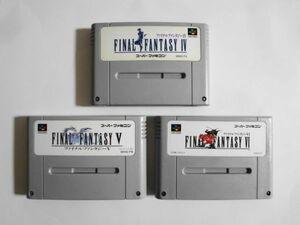 送料無料 即決 使用感あり 任天堂 スーパーファミコン SFC ファイナルファンタジー 4 5 6 セット FF RPG レトロ ゲーム ソフト Y588