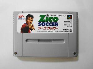 送料無料 即決 使用感あり 任天堂 スーパーファミコン SFC Zico SOCCER ジーコサッカー 鹿島アントラーズ レトロ ゲーム ソフト Y604