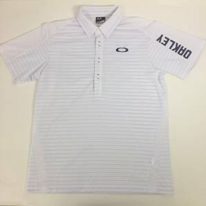 OAKLEY オークリー メンズ ゴルフ ポロシャツ ホワイト Lサイズ 速乾