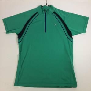 ワコール WACOAL CW-X 速乾半袖Tシャツ グリーン 小物入れ付き ランニングシャツ Mサイズ