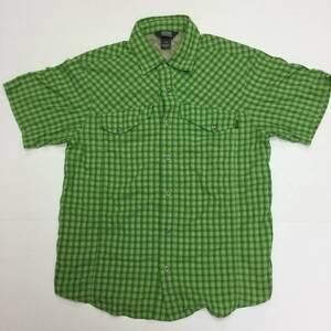 美品 OUTDOOR RESEARCH アウトドアリサーチ 半袖チェックシャツ Sサイズ