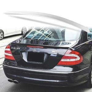 純正色塗装 ABS製 トランクスポイラー メルセデスベンツ CLKクラス W209用 クーペ Aタイプ 両面テープ取付 カラーコード:775
