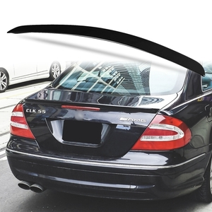 純正色塗装 ABS製 トランクスポイラー メルセデスベンツ CLKクラス W209用 クーペ Aタイプ 両面テープ取付 カラーコード:197