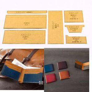 レザークラフト 型紙 クラフト紙 財布