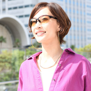【日本人の頭部データを元に設計】 スポーツ サングラス スワンズ レディース 女性用 偏光レンズ 日本製 ケース付 ブラック×ブラウン