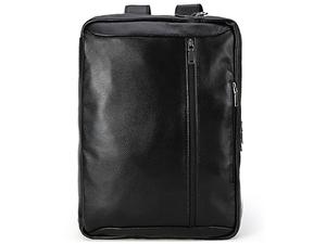 TIDING 3WAY 本革 牛革 リュックサック メンズ ビジネスバッグ キャリーオン 14PC A4 書類鞄 通勤 出張 ブラック 潮牛