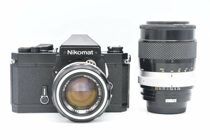 ◇ Nikon ニコン Nikomat FT2 + AI改 NIKKOR-H Auto 50mm F1.4 + 非AI NEW NIKKOR-Q・C Auto 135mm F2.8 標準単焦点 大口径 中望遠単焦点