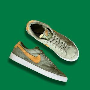 02年製 Nike Blazer Suede Low Palm Green Shock Orange White ナイキ ブレザー スウェード ロー US9 27.5cm デッドストック アーカイブ