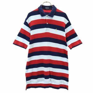ポロラルフローレン ワンポイント ロゴ刺繍 ボーダー 半袖 ポロシャツ L POLO RALPH LAUREN メンズ 210712 メール便可