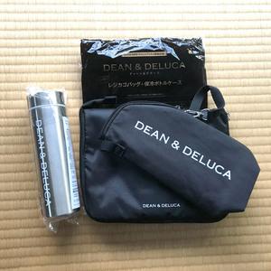 DEAN&DELUCA(ディーン&デルーカ) GLOW ステンレスボトル&レジかごお買い物バッグ+ストラップ付保冷ボトルケース