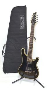 ■【美品 純正ソフトケース付属 消費税込】SCHECTER シェクター DIAMOND Series AD-007-BJ BLACKJACK 7弦 エレキギター #11110■
