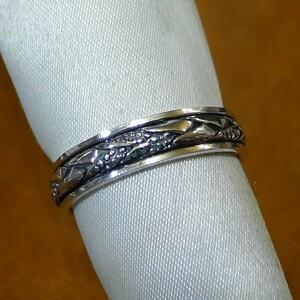 SR2054 Ring Silver 925 Ring No. 23 Spinner Ring Free Shipping