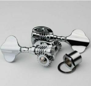 1 ピース 右 左 エレクトリックベース ギター チューニング ペグマシンヘッドノブ チューナークローム AZ0022