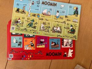 ムーミン シール切手 84円x10 3シート 63円x10 3シート 切手 グリーティング