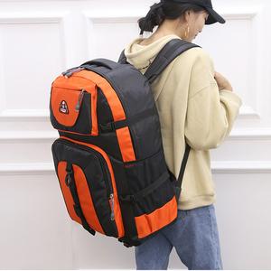 大容量 60L バックパック 登山 ディバッグ リュックサック 防水 スポーツ 旅行 アウトドア 鞄 ハイキング メンズ レディース オレンジ