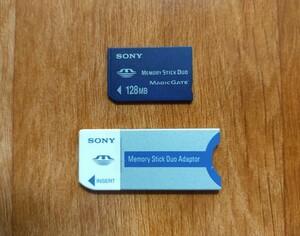 メモリースティックDuo MAGICGATE 128MB /メモリースティックアダプター