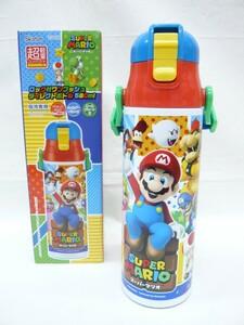 『スーパーマリオ』ロック付ステンレスボトル 580ml 保冷専用 水筒