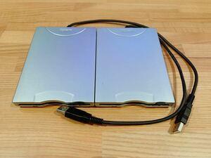 NEC純正 USB外付け フロッピーディスクドライブ2個セット 動作確認済み