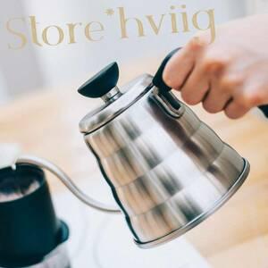 国産 IH対応 HARIO コーヒーハンドドリップしやすい形状 満水1.2L 実用0.8L やかん ドリップ ポット ケトル
