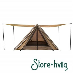 OneTigris 《4つの出入り口》《張り方バリエーション豊富》《ポール4本セット》 パップ 軍幕 シェルター テント ソロ キャンプ