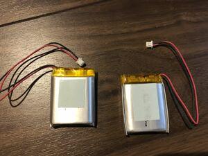 (3) リポバッテリー リチウムポリマー電池 LiPo 3.7V 700mAh (サイズ 102735)2個セット