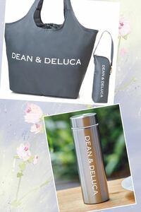 ★DEAN&DELUCA レジカゴバッグ+保冷ボトルケース +ステンレスボトル GLOW8月号 DEAN&DELUCA 付録