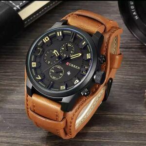 新品 腕時計 ビジネス 高級 革ベルト ウォッチ おしゃれ ブラウン ブラック