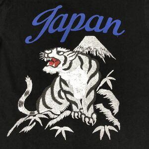 JACKROSE ジャックローズ Vネック プリント Tシャツ 虎 日本製 メンズ サイズ4 中古 ブラック タイガー