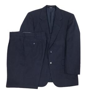 1円 ロシャス サイズ 94A6 スーツ 上下 セット 長袖 ジャケット パンツ 毛 100% メンズ ネイビー Rochas