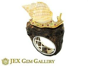K18 / WG shell wood ring