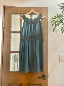 定価4.2万 美品 ダイアグラム グレースコンチネンタル 青ドレス ワンピース