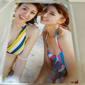 AKB48 ポニーテールとシュシュ 店舗特典 HMV 生写真 篠田麻里子 大島優子 ビキニ 水着