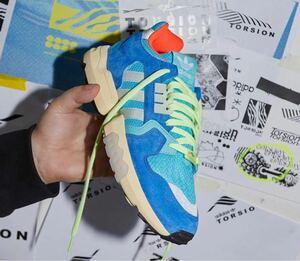 即決 希少カラー 美品 adidas zxtorsion EE4787 27.5cm アディダス ブルー US9.5 正規品 紐 タグ付き NIKE ナイキ ダンク ジョーダン1