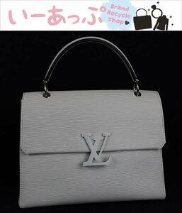 ルイヴィトン ハンドバッグ トートバッグ グルネルMM M53690 エピ ホワイト 新品同様 白 シルバー 極美品 o635